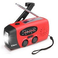 The ​Esky Solar Hand Crank Radio With LED Flashlight
