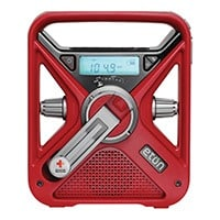 American Red Cross FRX3 emergency radio with a hand crank